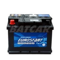 Eurostart 12V 62Ah 530 A/EN +Pol links