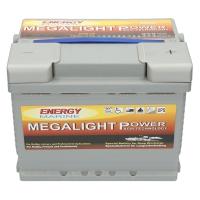 Megalight 12V 65Ah AGM Batterie + Klemmen mit Schmetterlingsschraube für 12 Volt Außenborder