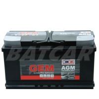 GEM AGM Batterie 12V 95Ah 850A/EN +Pol rechts