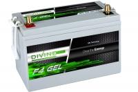 Divine Energy F4 GEL 100Ah 1100Wh Rundpol