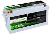 Divine Energy F4 GEL 150Ah 1700Wh Rundpol