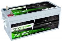 Divine Energy F4 GEL 200Ah 2300Wh Rundpol