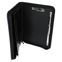 Schreibmappe Konferenzmappe DIN A4 Reißverschluss Schwarz Edle Ausführung NEU KOK04152