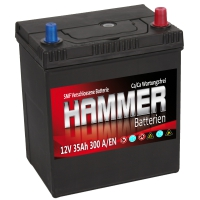 Autobatterie 35Ah + Rechts Hammer Asia Japan