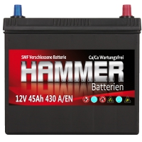 Autobatterie 45Ah + Rechts Hammer Asia Japan