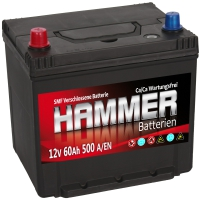 Autobatterie 60Ah + Links Hammer Asia Japan