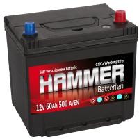 Autobatterie 60Ah + Rechts Hammer Asia Japan