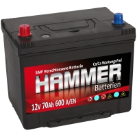 Autobatterie 70Ah + Links Hammer Asia Japan