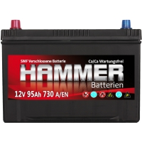 Autobatterie 95Ah + Links Hammer Asia Japan