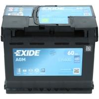 Exide AGM 12V 60Ah 680A EN +Pol rechts EK600