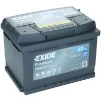 Exide Premium EA612 61Ah 600AEN Autobatterie Starterbatterie EA612S