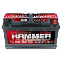 Hammer AGM Starterbatterie 12V 100Ah 1000A/EN +Pol Rechts