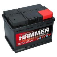 Autobatterie 55Ah + Rechts Hammer
