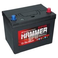 Autobatterie Hammer EFB 70Ah 680A/EN Japan Start Stop
