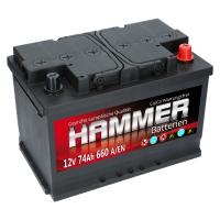 Autobatterie 74Ah + Rechts Hammer