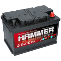 Autobatterie 85Ah + Rechts Hammer