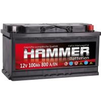 Autobatterie 100Ah + Rechts Hammer