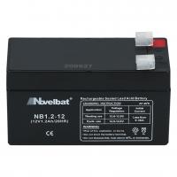 Novelbat 12V 1,2Ah AGM VRLA Batterie Gel Akku Scooter USV Notstromakku