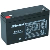 Novelbat 6V 12Ah AGM VRLA Batterie Gel Akku Scooter USV Notstromakku