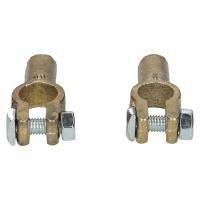 Presseklemme Quetschklemme komplett für + und - Pol Messing Kabel 8mm KL800_+_-