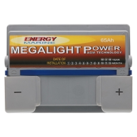 Megalight Power AGM Batterie 12V 65Ah