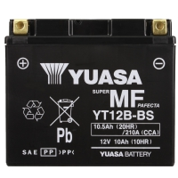 Yuasa AGM 12V 10,5Ah 210A CCA +L YT12B-BS