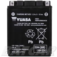 Yuasa AGM 12V 12,6Ah 210A CCA +L YTX14AH-BS