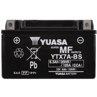 Yuasa AGM 12V 6,3Ah 105A CCA +L YTX7A-BS