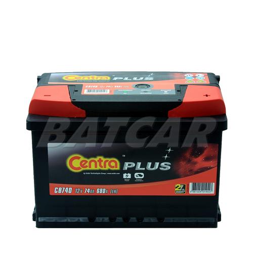 autobatterie centra plus 12v 74ah 680a en cb741 autobatterien shop starterbatterie. Black Bedroom Furniture Sets. Home Design Ideas