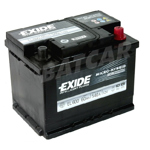 autobatterie exide micro hybrid 12v 60ah 540a en autobatterien shop. Black Bedroom Furniture Sets. Home Design Ideas