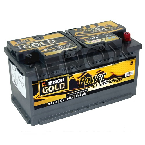 autobatterie jenox gold 12v 95ah 800a en autobatterien shop motorradbatterien lkw. Black Bedroom Furniture Sets. Home Design Ideas