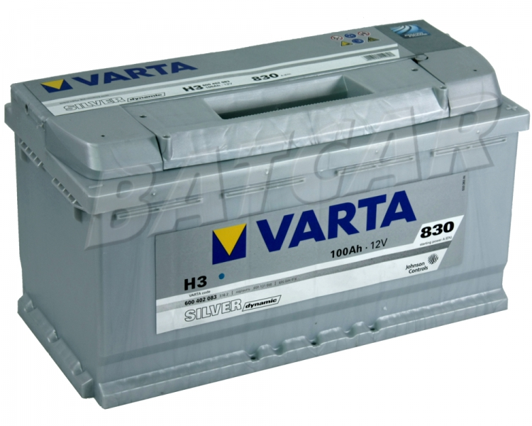 varta silver dynamic h3 12v 100ah 830a en autobatterie. Black Bedroom Furniture Sets. Home Design Ideas