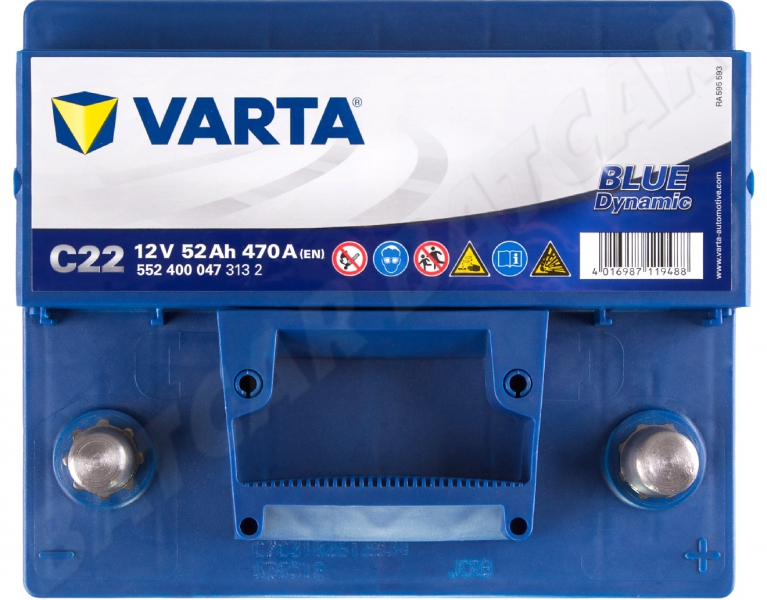 varta blue dynamic c22 12v 52ah 470a en autobatterie shop starterbatterie. Black Bedroom Furniture Sets. Home Design Ideas