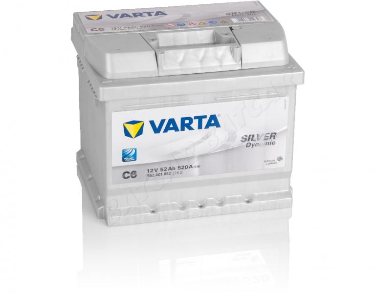 Varta Silver Dynamic C6 Autobatterie 52Ah Starterbatterie 520A 12V