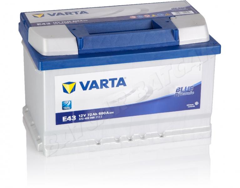 varta blue dynamic e43 12v 72ah 680a en autobatterie shop starterbatterie 12v batterie. Black Bedroom Furniture Sets. Home Design Ideas