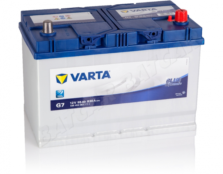 varta blue dynamic g7 12v 95ah 800a en autobatterie shop starterbatterie 12v batterie. Black Bedroom Furniture Sets. Home Design Ideas