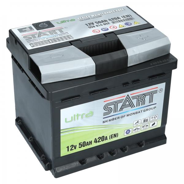 autobatterie ultra start 12v 50ah 420a en autobatterien shop motorradbatterien lkw. Black Bedroom Furniture Sets. Home Design Ideas