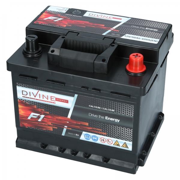 autobatterie divine f1 12v 50ah 420a en autobatterien shop motorradbatterien lkw. Black Bedroom Furniture Sets. Home Design Ideas