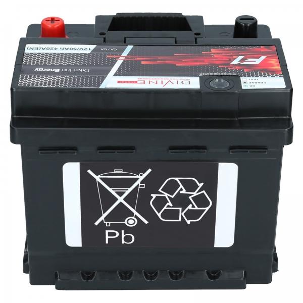 autobatterie divine f1 12v 50ah 420a en autobatterien. Black Bedroom Furniture Sets. Home Design Ideas
