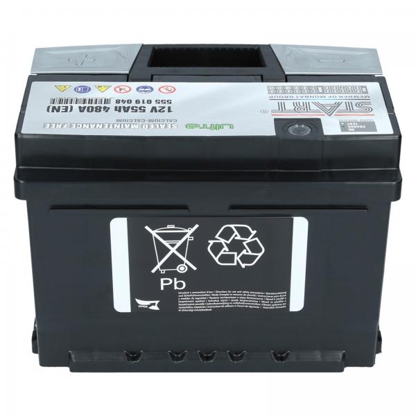 autobatterie ultra start 12v 55ah 480a en autobatterien. Black Bedroom Furniture Sets. Home Design Ideas