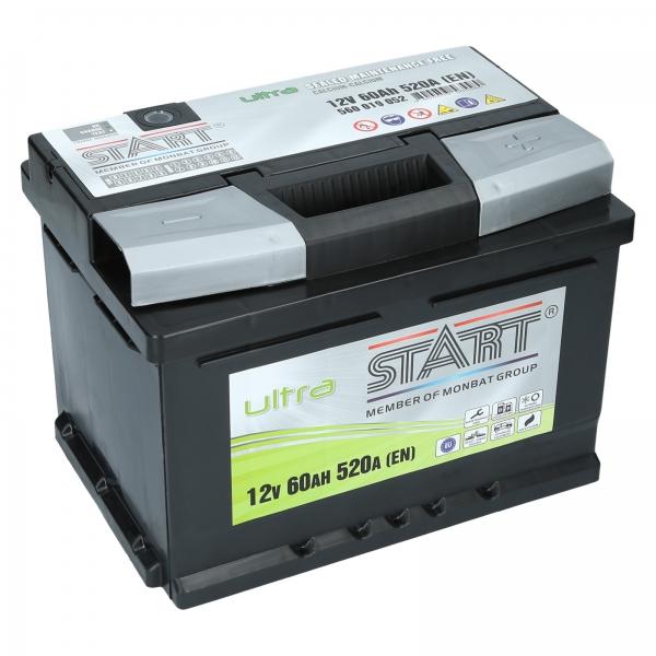 autobatterie ultra start 12v 60ah 520a en autobatterien. Black Bedroom Furniture Sets. Home Design Ideas