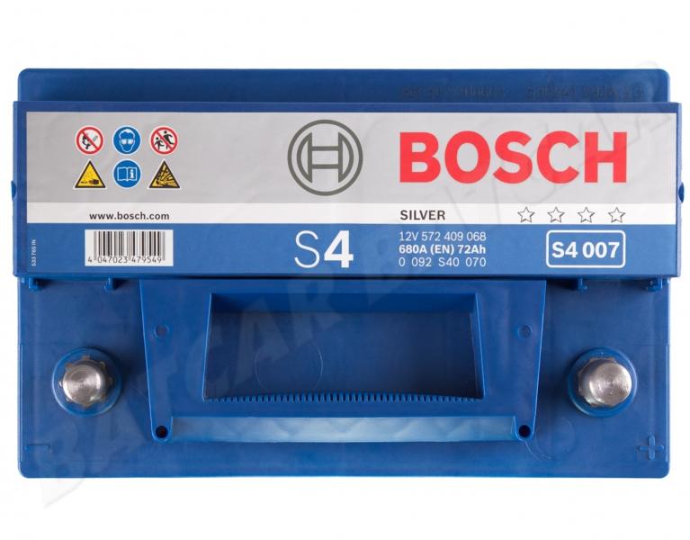 bosch s4 007 12v 72ah 680a en autobatterie shop starterbatterie 12v batterie. Black Bedroom Furniture Sets. Home Design Ideas