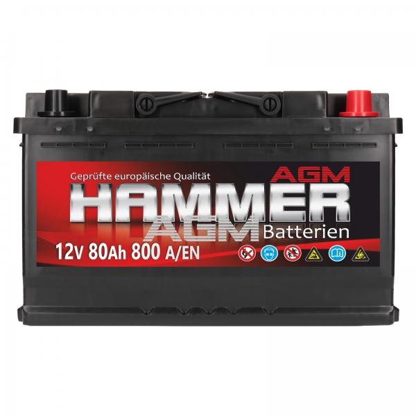 hammer agm 12v 80ah 800a en autobatterien shop agm batterien versorgungsbatterie. Black Bedroom Furniture Sets. Home Design Ideas